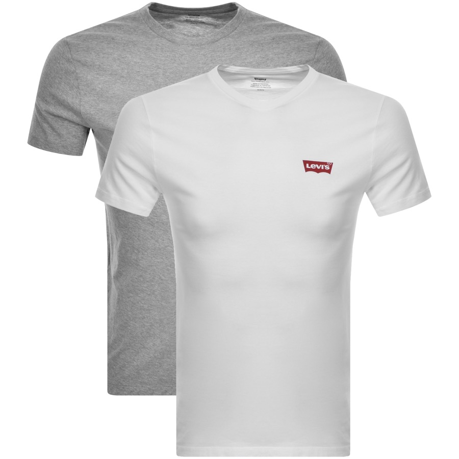 Levis Original Double Pack Crew Neck T Shirt White