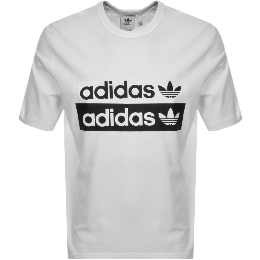 sélection premium 9596e 6aa1f adidas Originals Vocal Trefoil Logo T Shirt White | Mainline Menswear