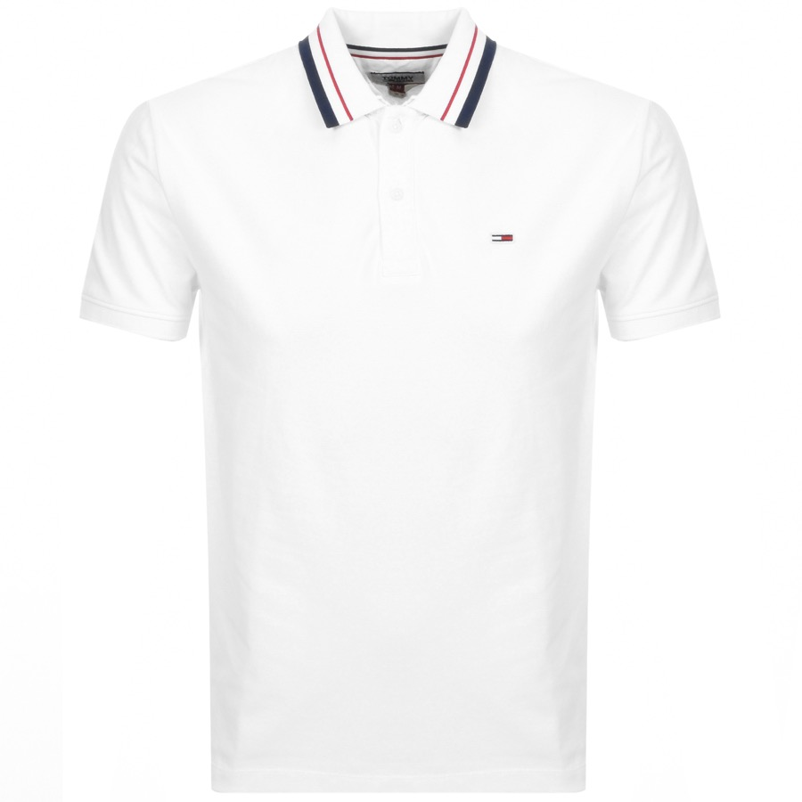 Tommy Jeans Classic Polo T Shirt White