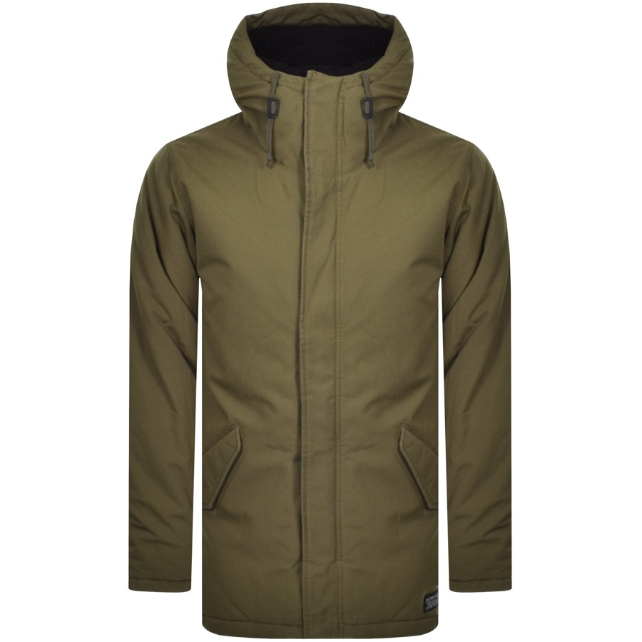 672f574e1 Levis Thermore Padded Parka Jacket Green | Mainline Menswear