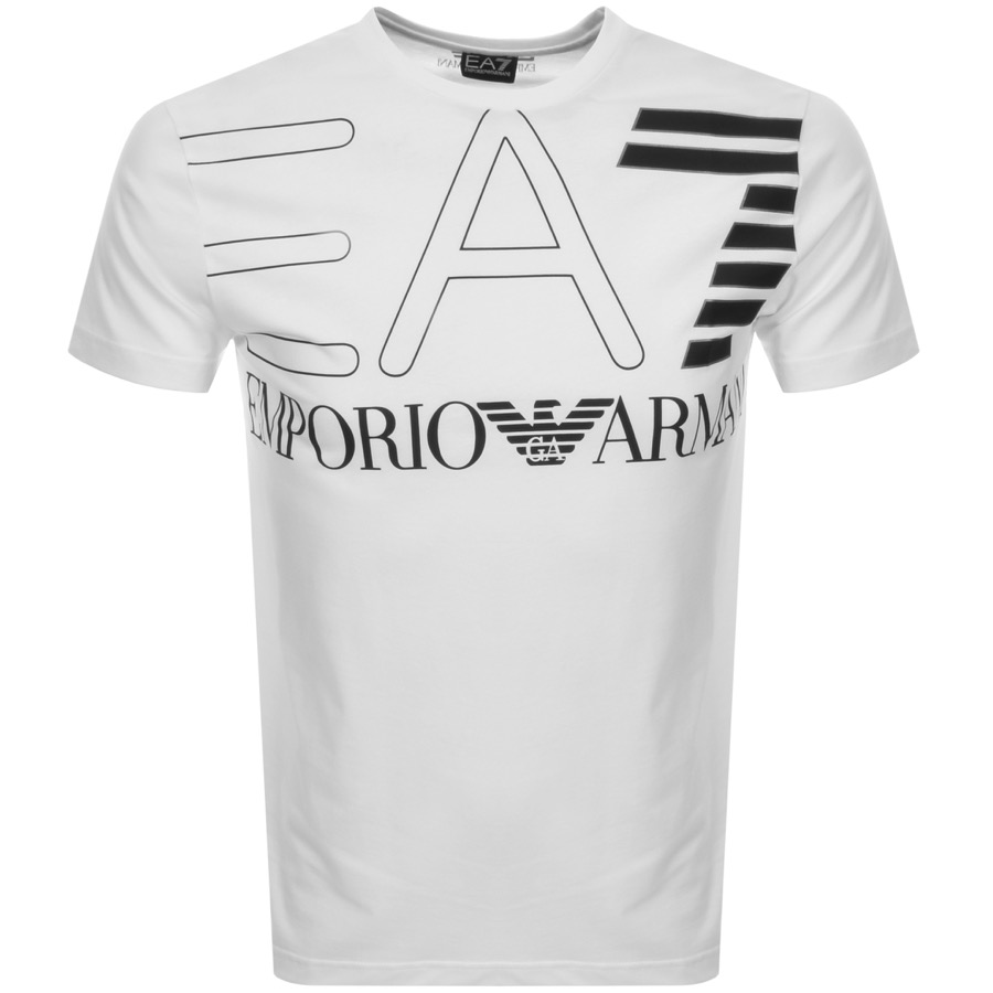 a9c2c0f1 Product Image for EA7 Emporio Armani Crew Neck Logo T Shirt White