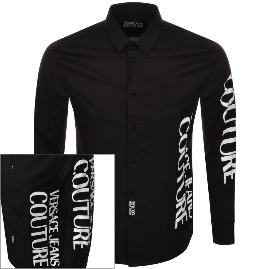 e0d93ba2dedfc4 Product Image for Versace Jeans Couture Long Sleeved Shirt Black