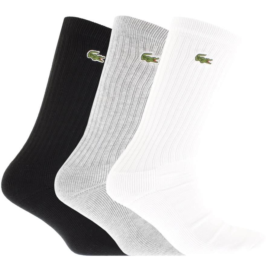 Lacoste Sport Three Pack Socks Grey
