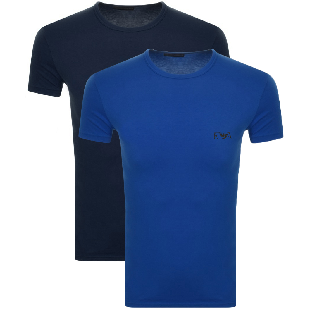 4480bfb3 Product Image for Emporio Armani 2 Pack Crew Neck T Shirts Blue
