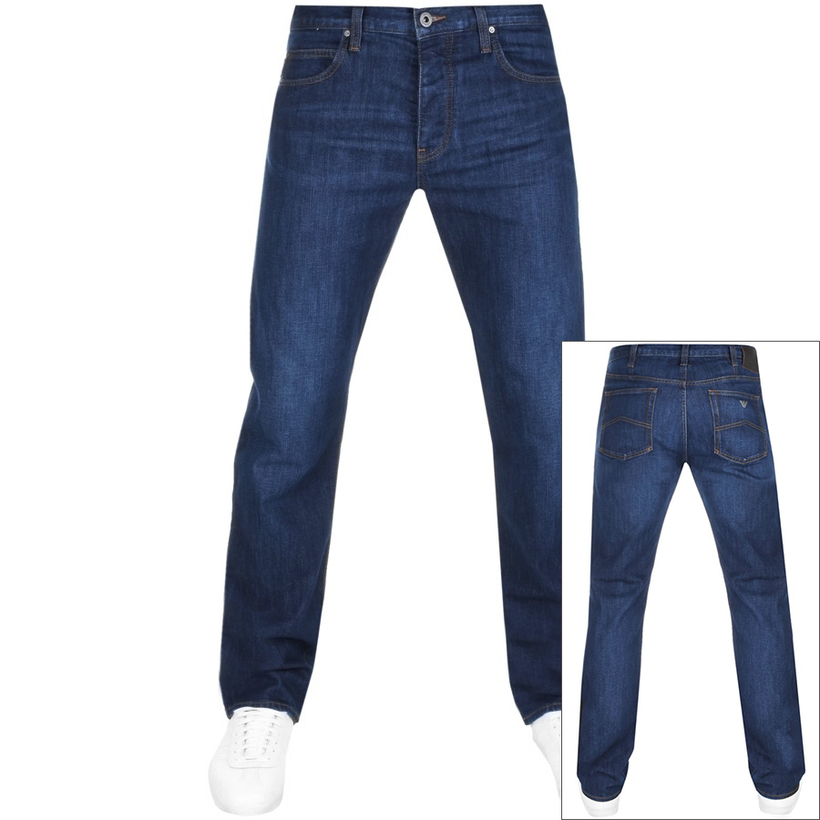 Emporio Armani J21 Regular Fit Jeans Blue