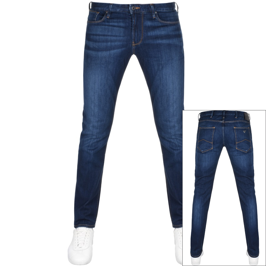 a610c5182032 Product Image for Emporio Armani J06 Slim Fit Jeans Blue