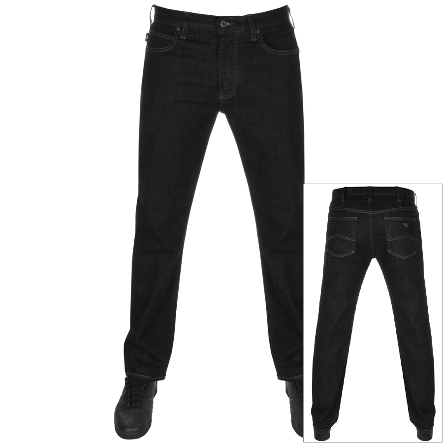 Emporio Armani J21 Regular Fit Jeans Black