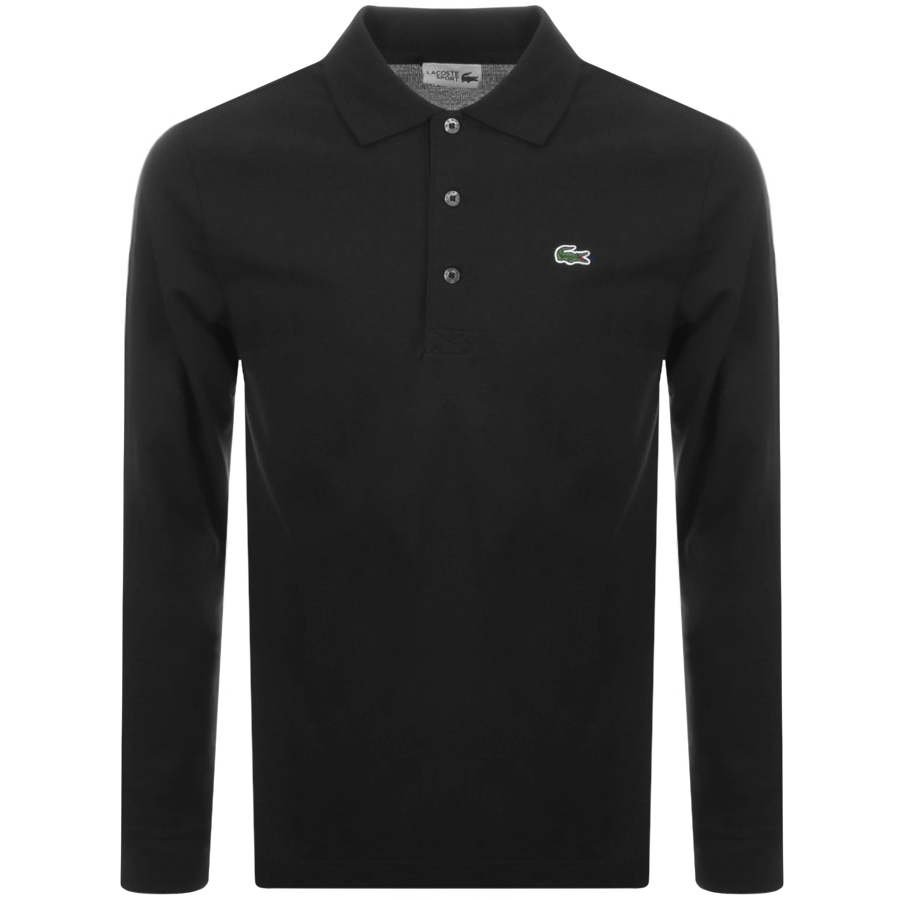509e5573e289 Product Image for Lacoste Sport Long Sleeved Polo T Shirt Black