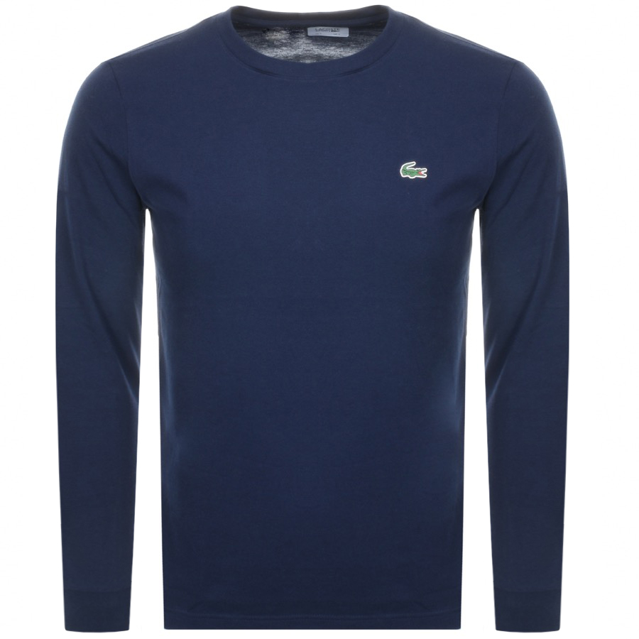 8b3217d7a940 Product Image for Lacoste Sport Long Sleeved T Shirt Navy