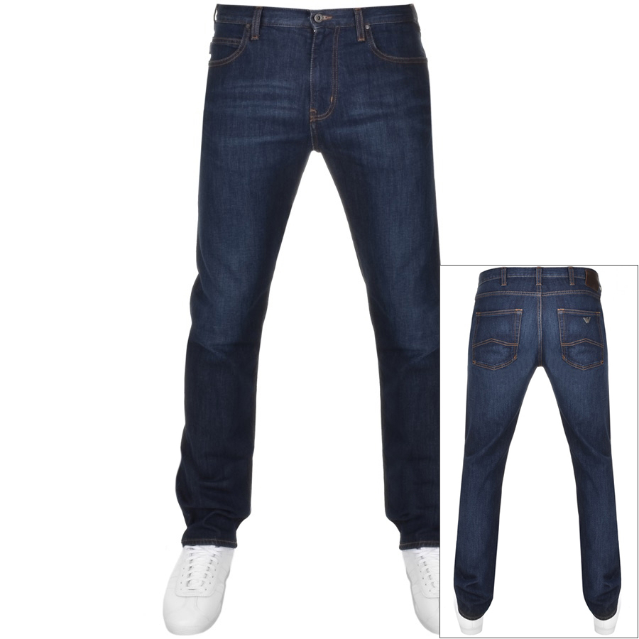dfcb6177 Product Image for Emporio Armani J45 Regular Fit Jeans Blue