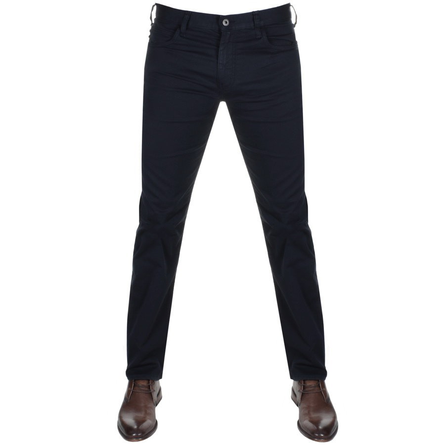 outlet store e9a9c a8656 Emporio Armani J45 Regular Slim Fit Jeans Navy | Mainline Menswear