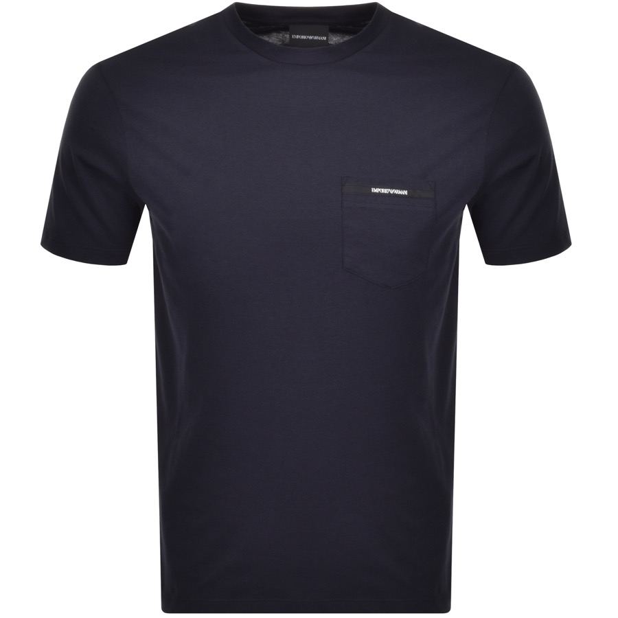 Emporio Armani Pocket Logo T Shirt Navy