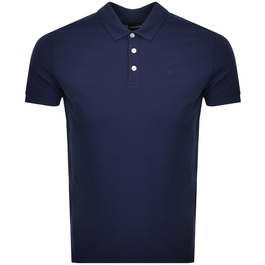 c5f5ec8ae5b6 Product Image for Emporio Armani Short Sleeved Polo T Shirt Navy