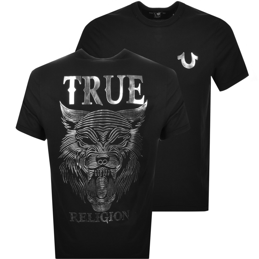 86db35c306a8 Product Image for True Religion Wolf T Shirt Black