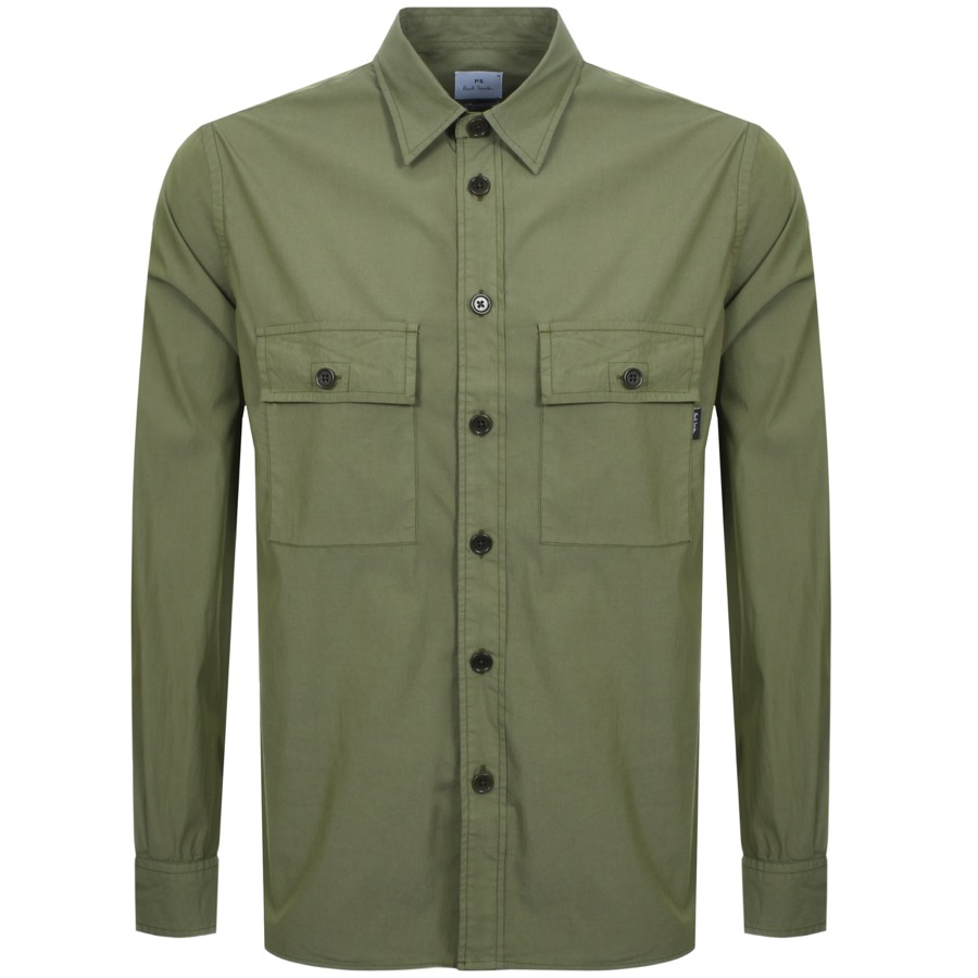 53afeae0 Alternative Image for ProductPS By Paul Smith Double Pocket Shirt Green1 ...