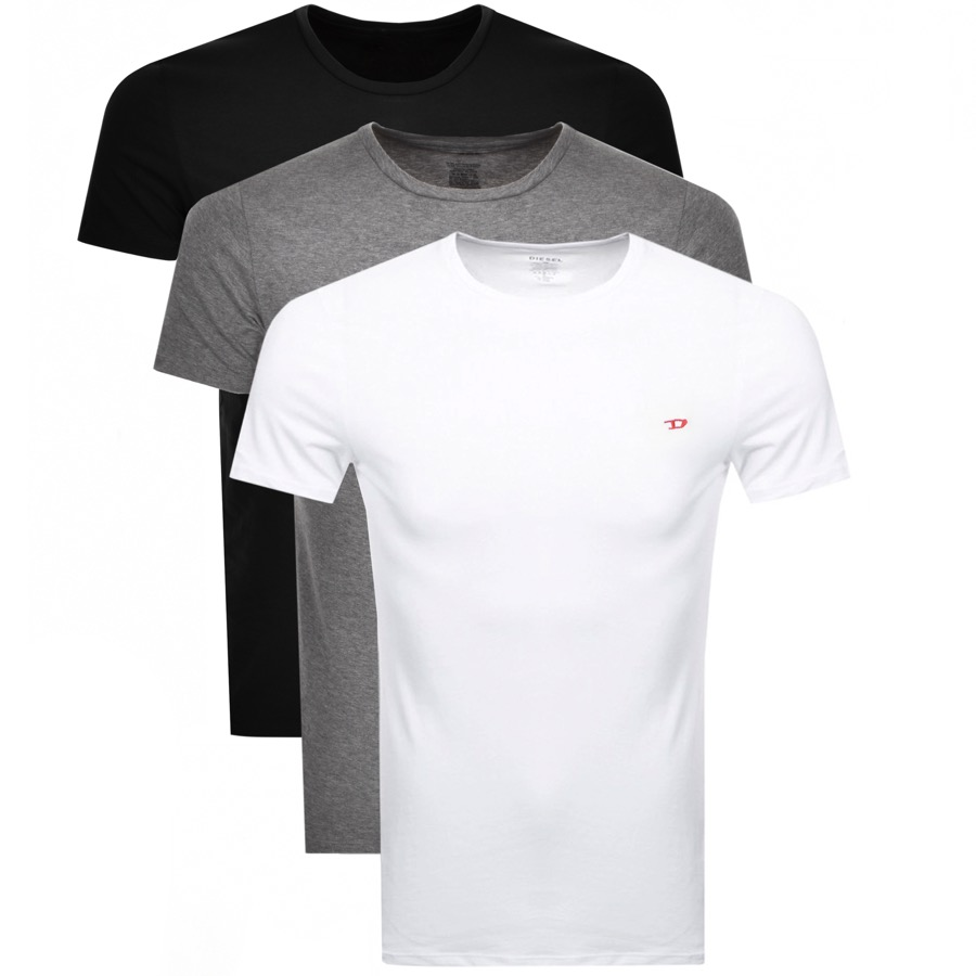Diesel Randal 3 Pack T Shirt Black