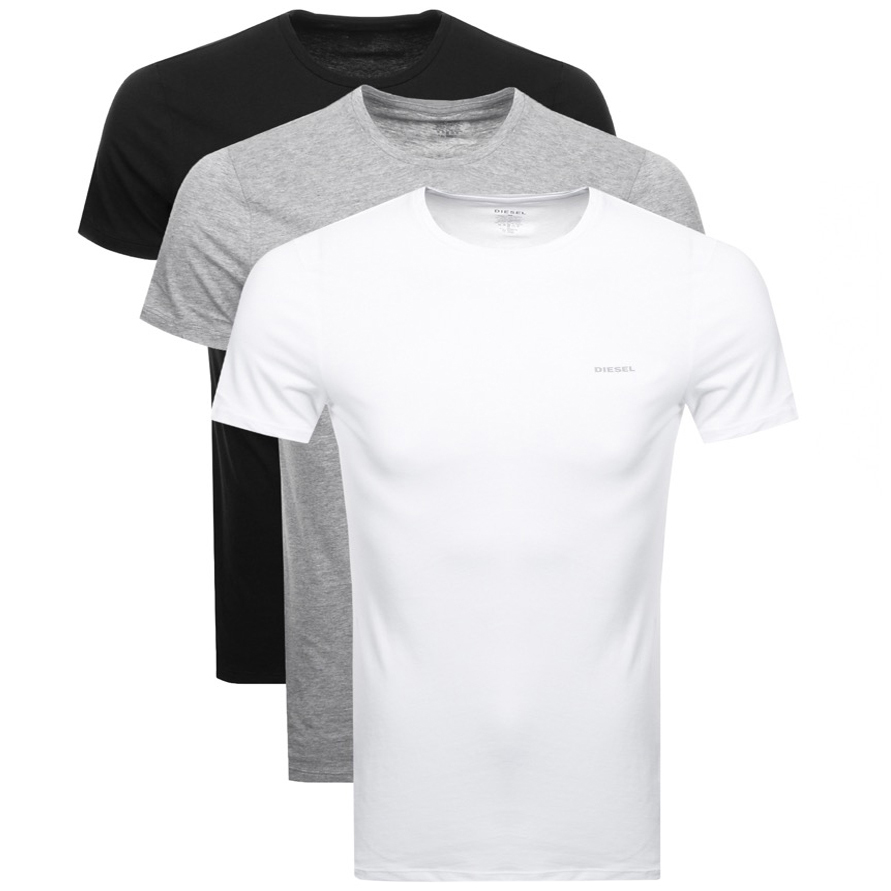 edbb705a Product Image for Diesel UMTEE Jake 3 Pack T Shirt Grey