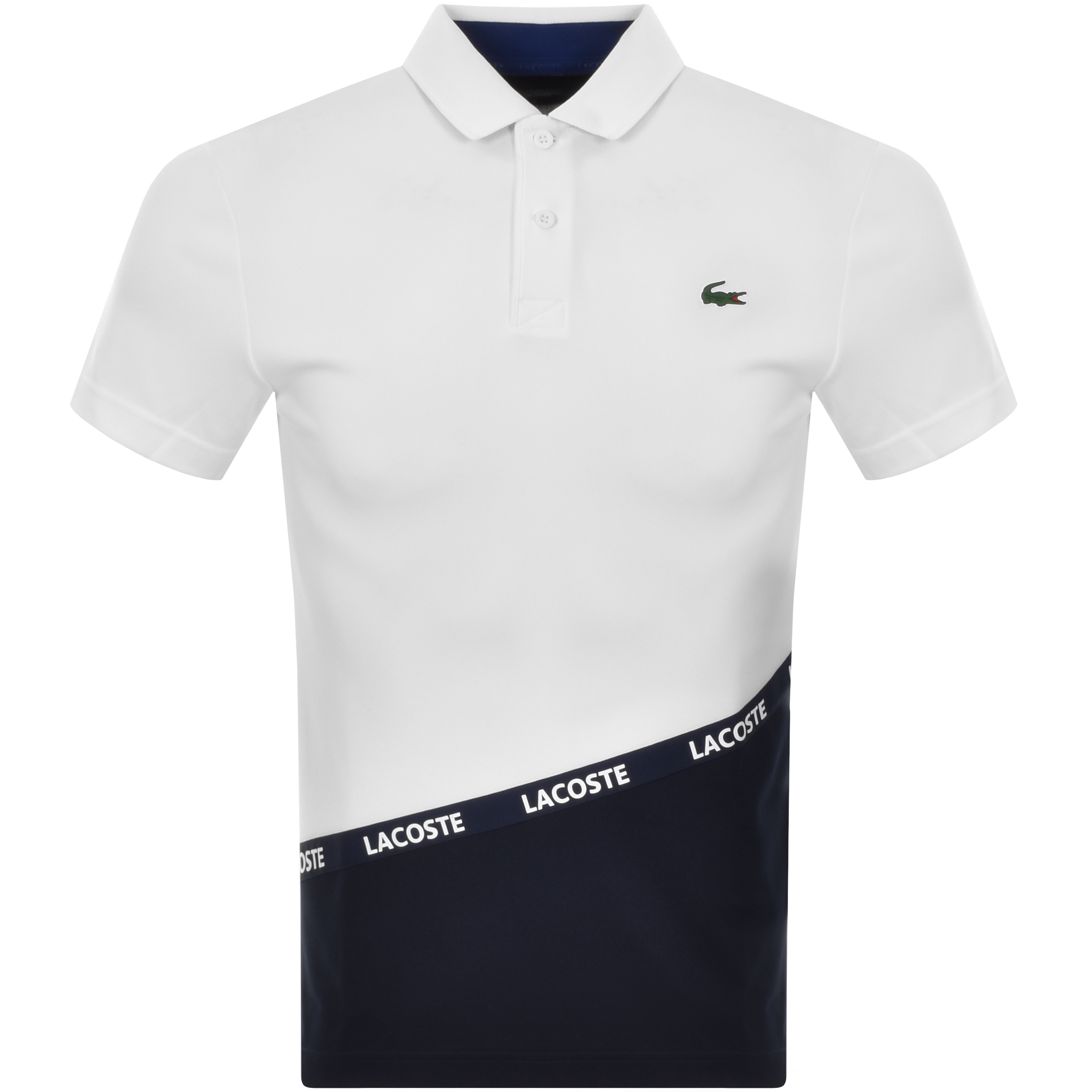 452c94fce Lacoste Sport Colour Block Polo T Shirt White