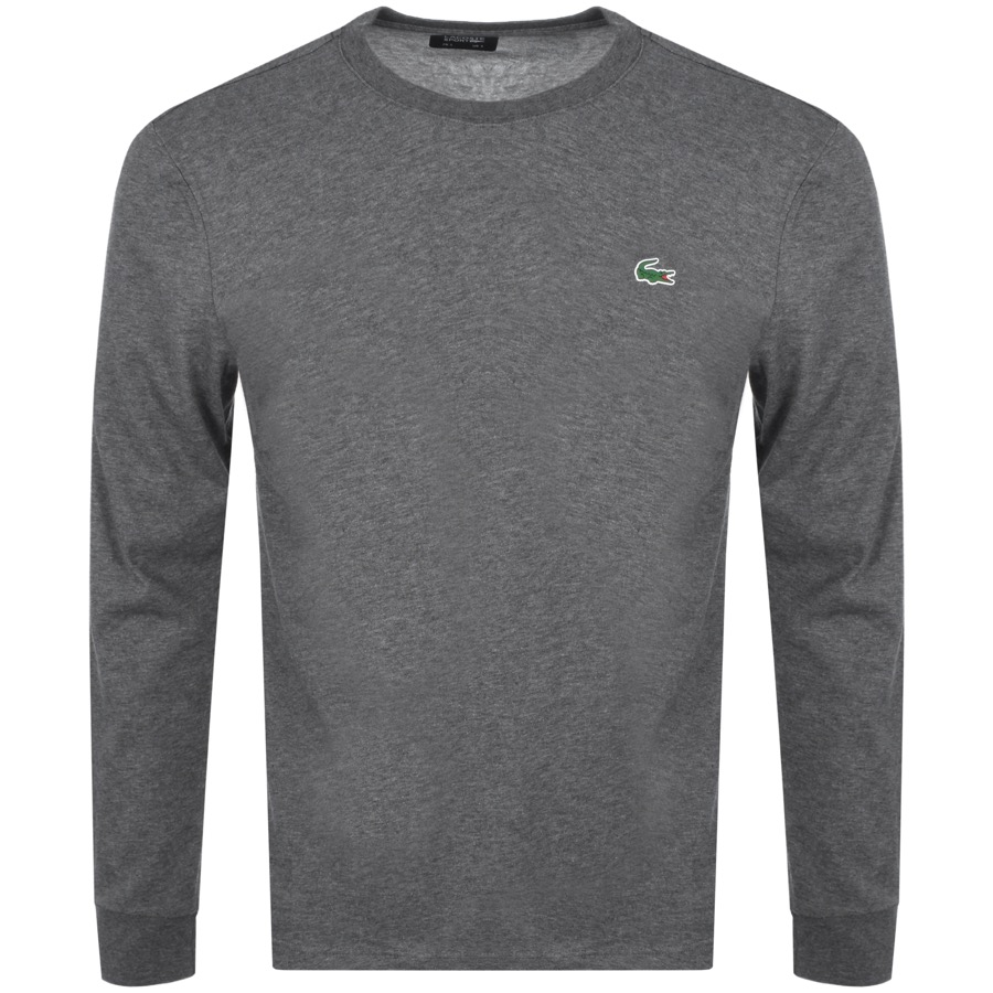 Lacoste Sport Long Sleeved T Shirt Grey