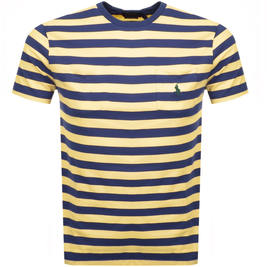 Ralph Lauren Stripe Pocket T Shirt Yellow