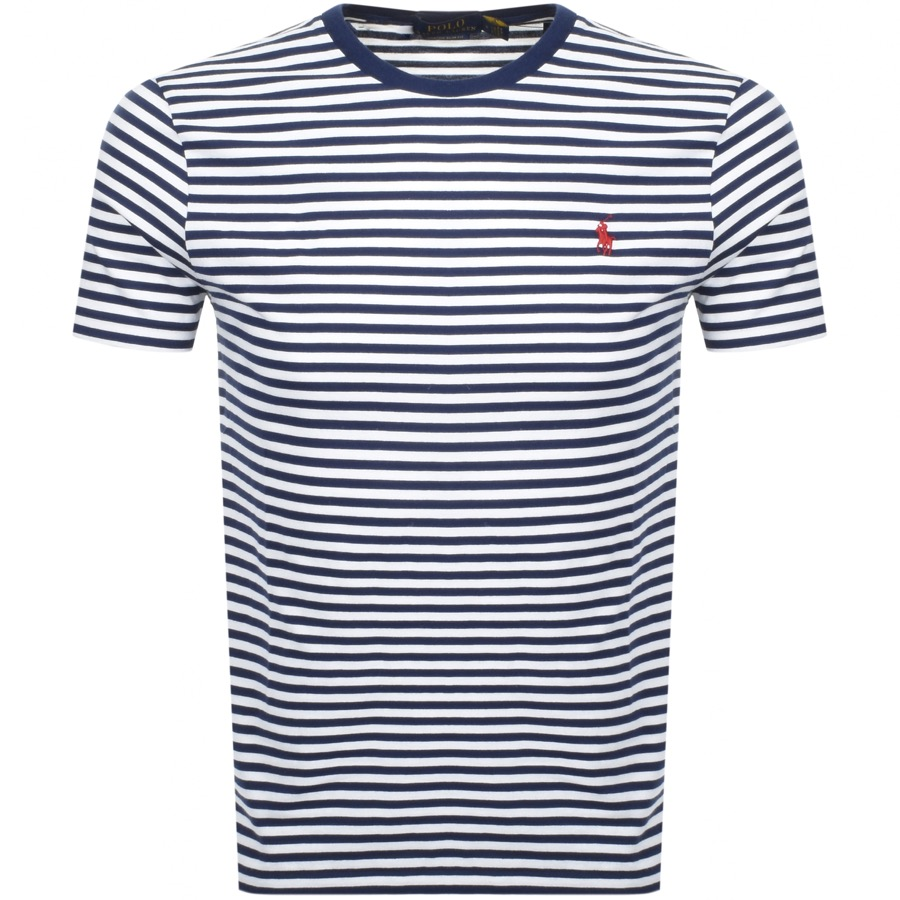 da0d99d8de Product Image for Ralph Lauren Logo Stripe T Shirt White