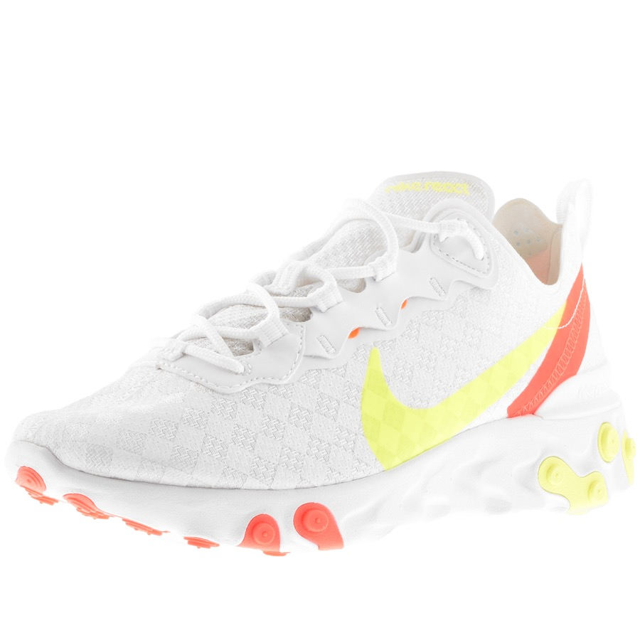 Nike React Element 55 Trainers White