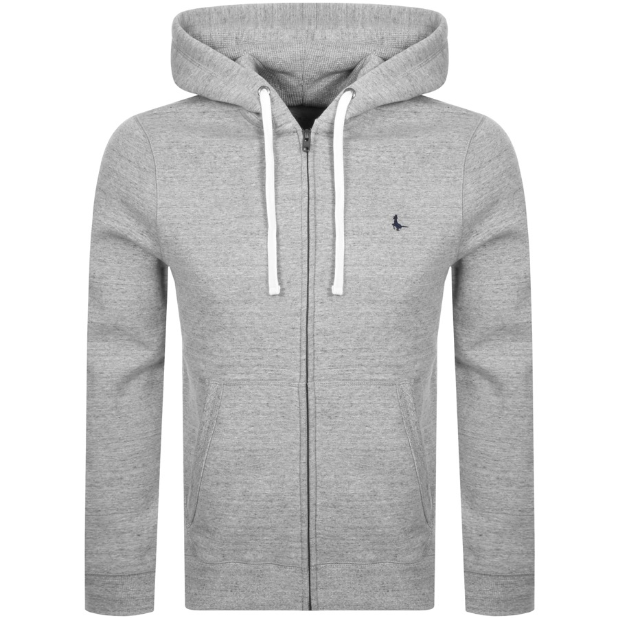 Jack Wills Pinebrook Full Zip Hoodie Grey