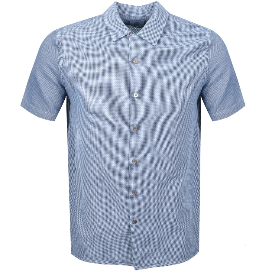 PS By Paul Smith Short Sleeved Casual Shirt Navy