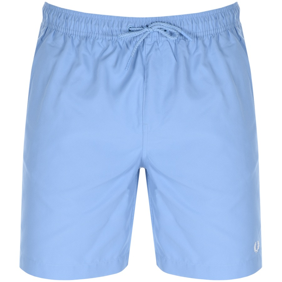 Fred Perry Textured Swim Shorts Blue