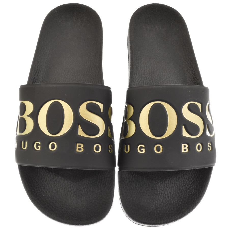 3a9f60c5f2cd7 Product Image for BOSS Athleisure Solar Sliders Black