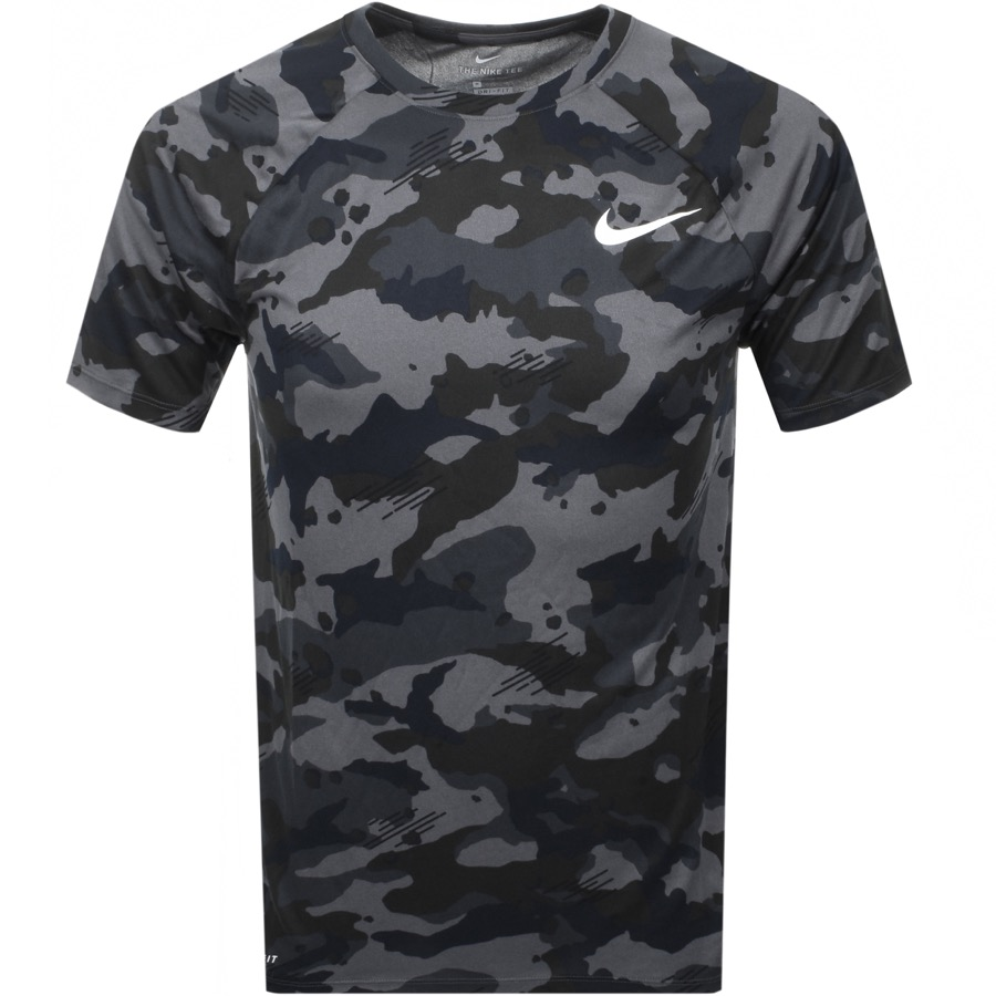 on sale ca1c8 8302a Product Image for Nike Training Swoosh Camouflage T Shirt Grey
