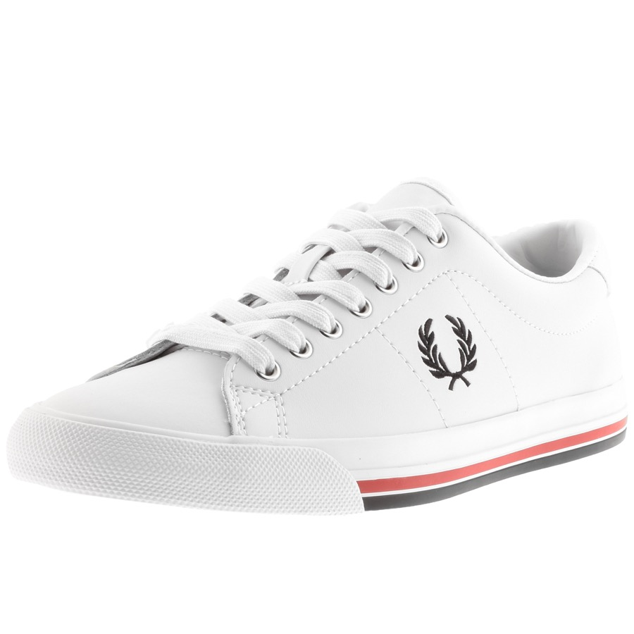 low priced 038ff 207cb Product Image for Fred Perry Underspin Leather Trainers White