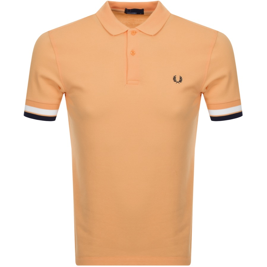 Fred Perry Bold Cuff Polo T Shirt Orange