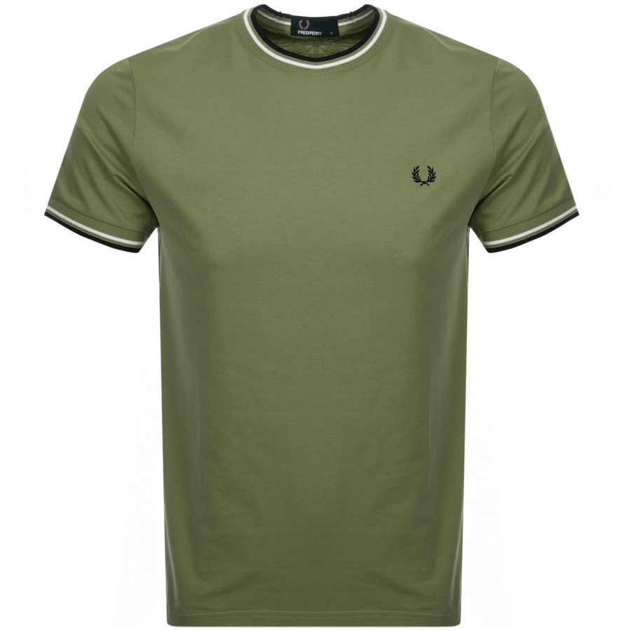 Fred Perry Twin Tipped T Shirt Green