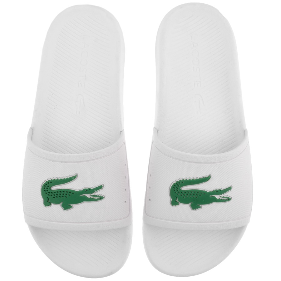 Lacoste Croco Sliders White