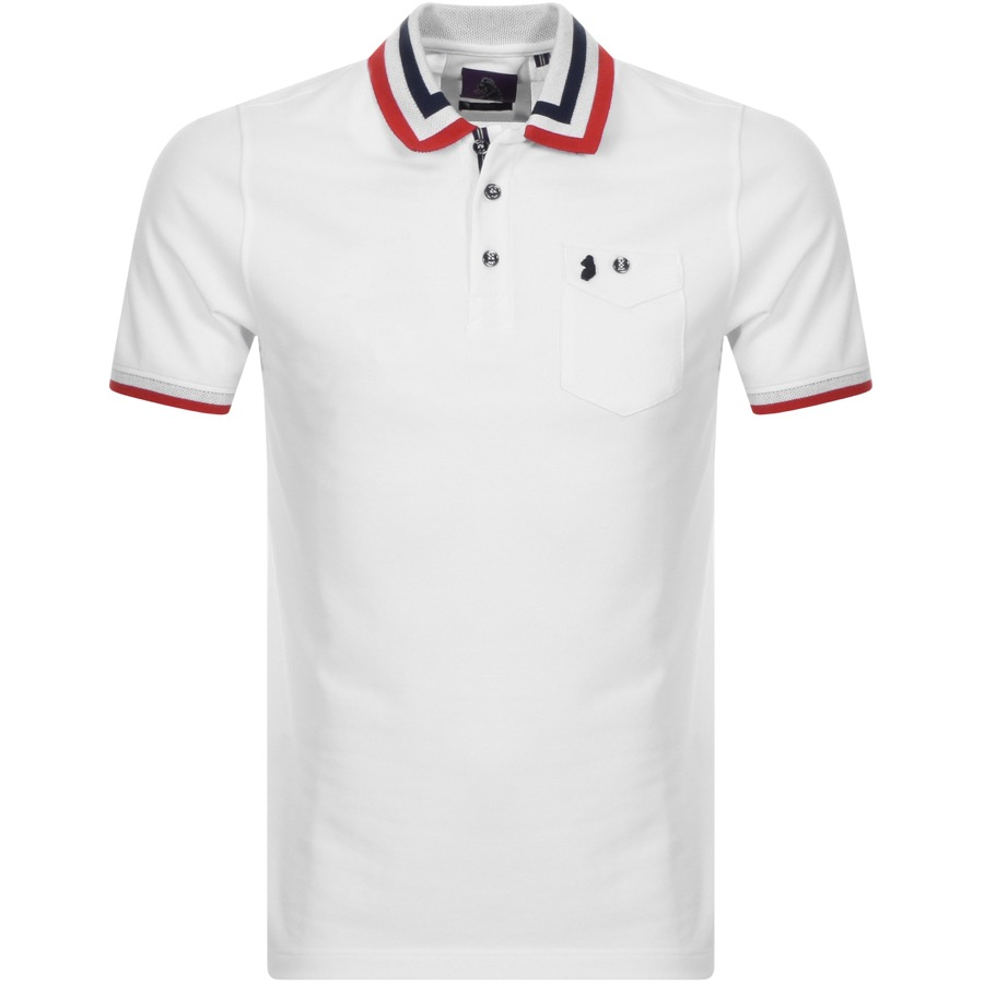 dddc947fb94 Product Image for Luke 1977 Spade Striped Polo T Shirt White