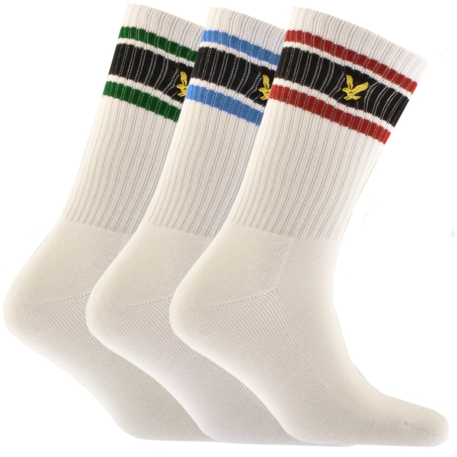 Lyle And Scott Grant Three Pack Socks White