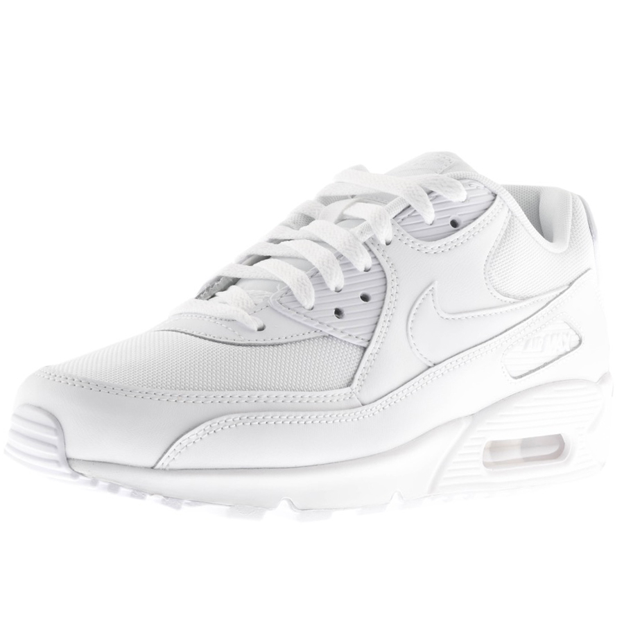 on sale 21033 fcefc Product Image for Nike Air Max 90 Essential Leather Trainers White
