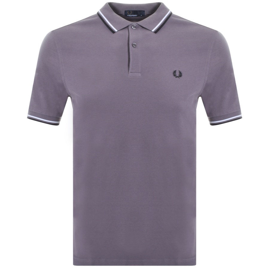75597bf96c40d9 Product Image for Fred Perry Twin Tipped Polo T Shirt Grey
