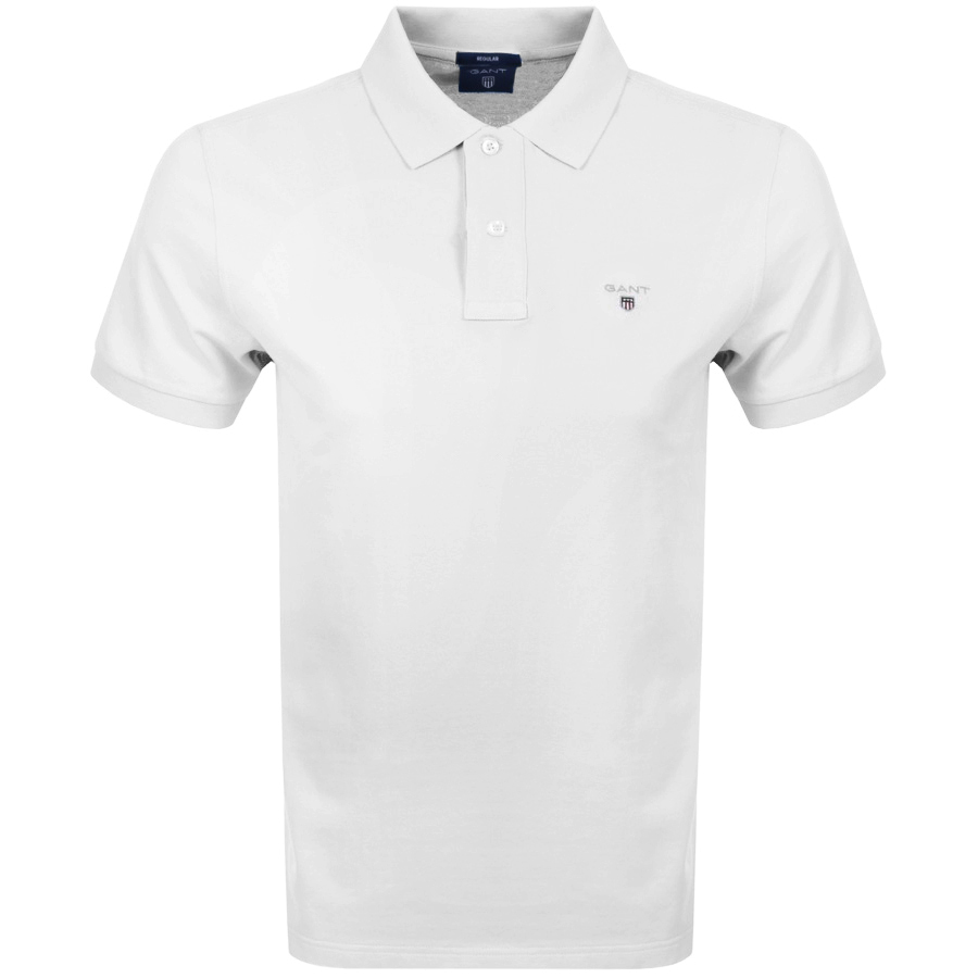 Gant Oxford Pique Rugger Polo T Shirt White