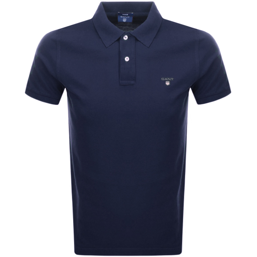 Main Product Image for Gant Oxford Pique Rugger Polo T Shirt Navy