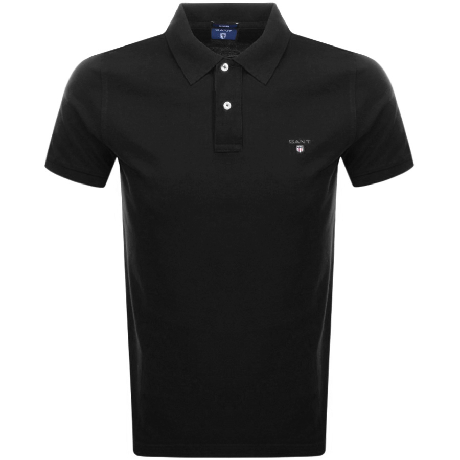 Main Product Image for Gant Contrast Pique Rugger Polo T Shirt Black