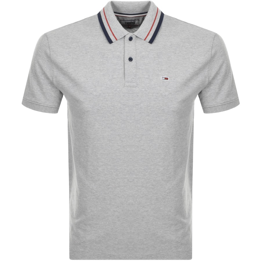 Main Product Image for Tommy Jeans Classic Polo T Shirt Grey
