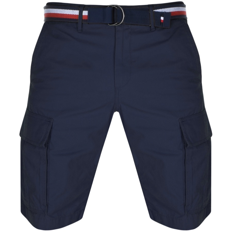 Tommy Hilfiger John Twill Belt Cargo Shorts Navy
