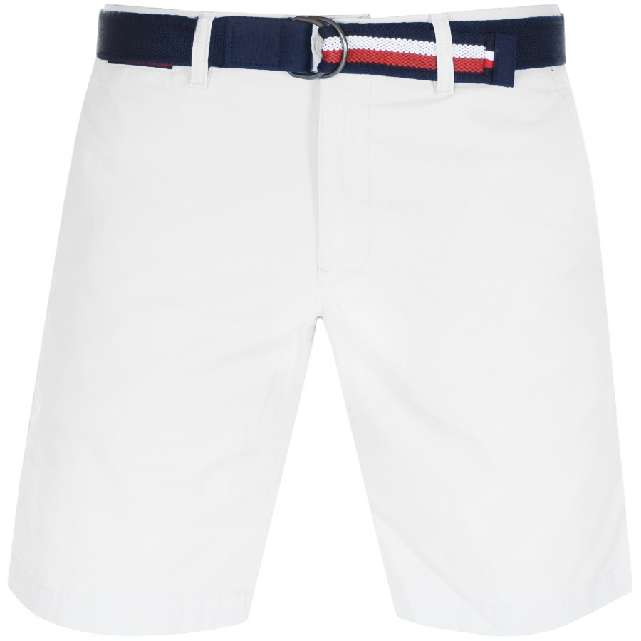 Tommy Hilfiger Brooklyn Twill Belt Shorts White