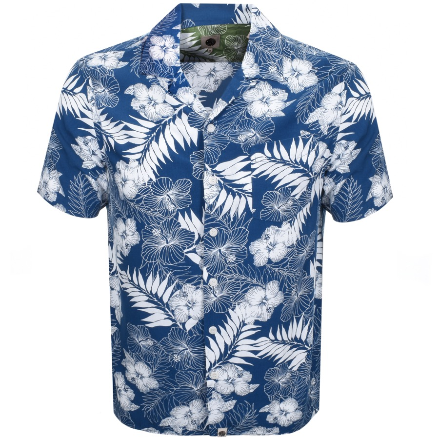 95ba2c76f5 Product Image for Pretty Green Short Sleeve Floral Shirt Blue