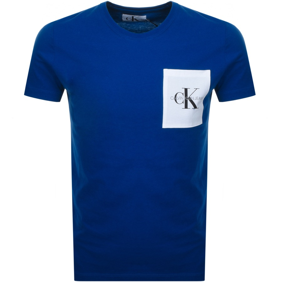 Main Product Image for Calvin Klein Jeans Monogram Pocket T Shirt Blue
