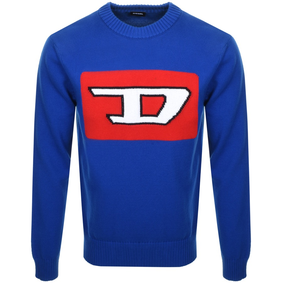 Diesel K LogoX Knit Jumper Blue
