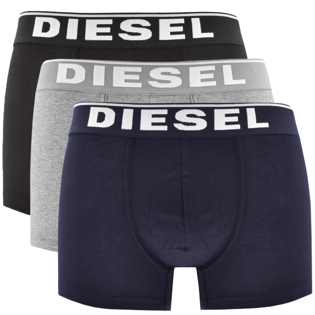 Diesel Underwear Damien 3 Pack Boxer Shorts Grey