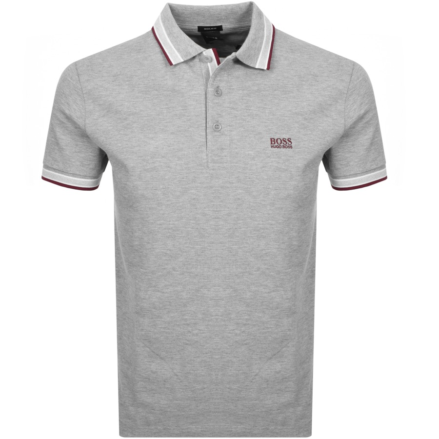 79d79ac9016 Product Image for BOSS Athleisure Paddy Polo T Shirt Grey